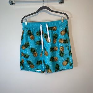 Trinity Collection Unlined Swim Trunks Pineapple M
